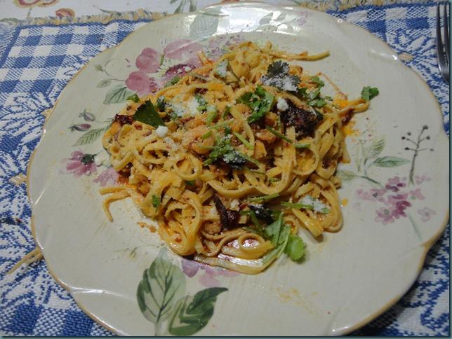 Garlic Seared Shrimp Linguine