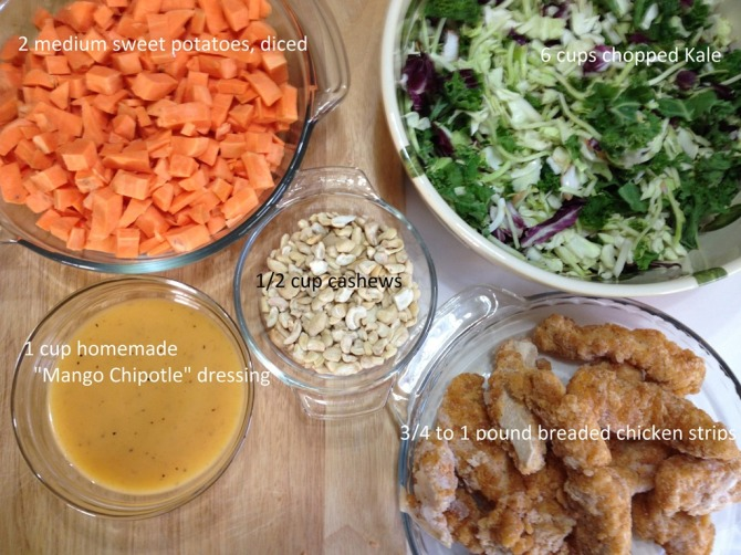 ingredients-for-Kale-Sweet-Potato-and-Chicken-Salad