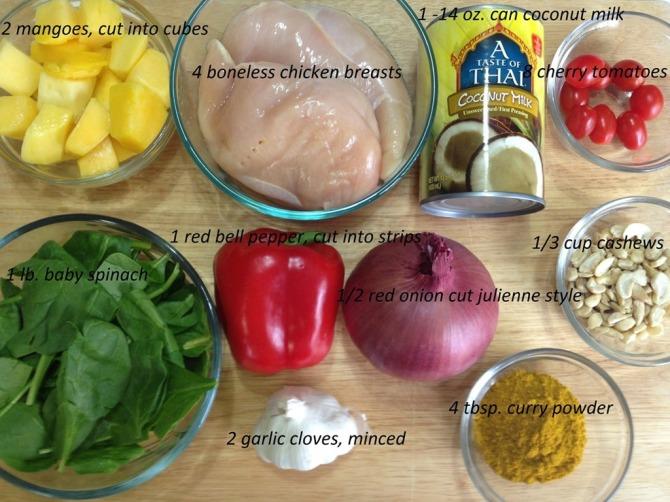 ingredients-for-Mango-Chicken-Salad