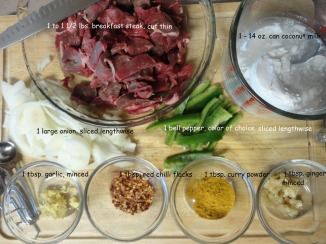 ingredients-for-Simple-and-Easy-Beef-Stir-Fry-with-Coconut-Milk