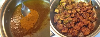 mixing-heated-olive-oil-with-curry