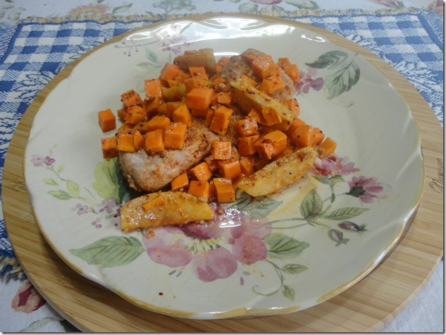 Roasted Pork Loin with Pears and Butternut Squash