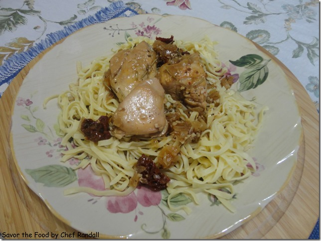 Rosemary Chicken and Sundried Tomatoes with Linguini