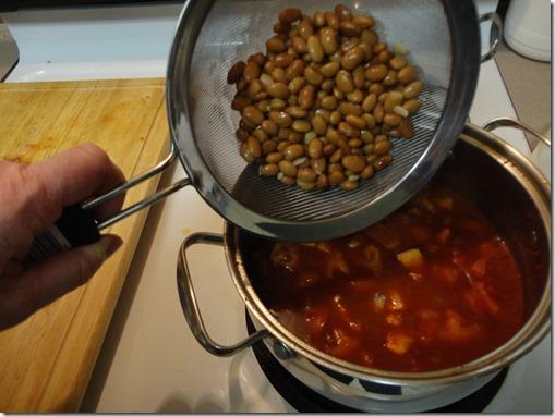 adding pinto beans