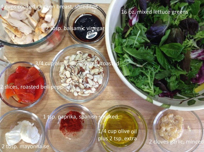 ingredients-for-Spanish-Chicken-Salad