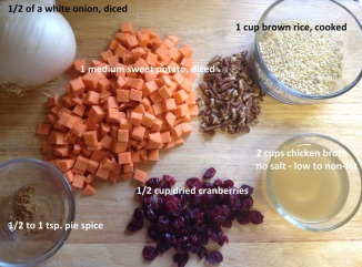 ingredients-for-Sweet-potato-Pilaf-with-Cranberries-and-Pecans