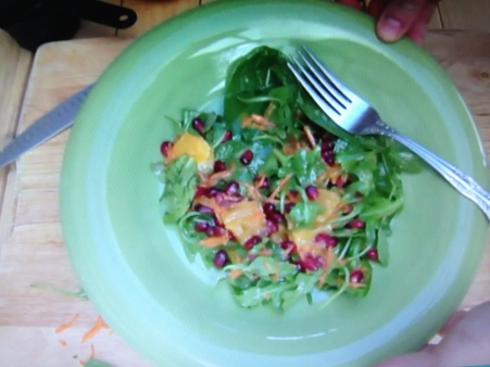 Pomegranate Greens & Orange Vinaigrette