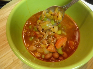 Spicy Chorizo and Bean Soup