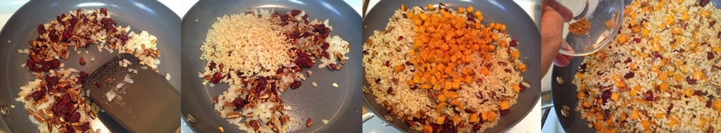 step-by-step-to-mix-ingredients-for-Sweet-Potato-Pilaf-with-Cranberries-and-Pecans