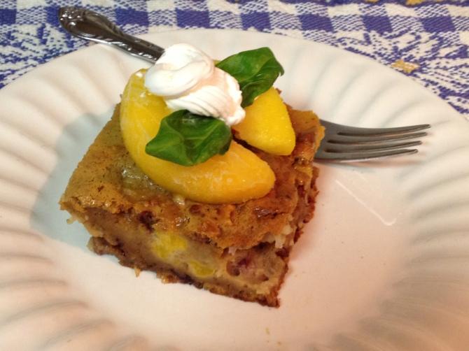 Peach Pecan Cake