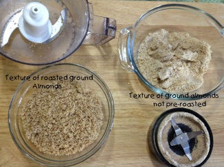 differenc of almond grind fromroasting and not roasting