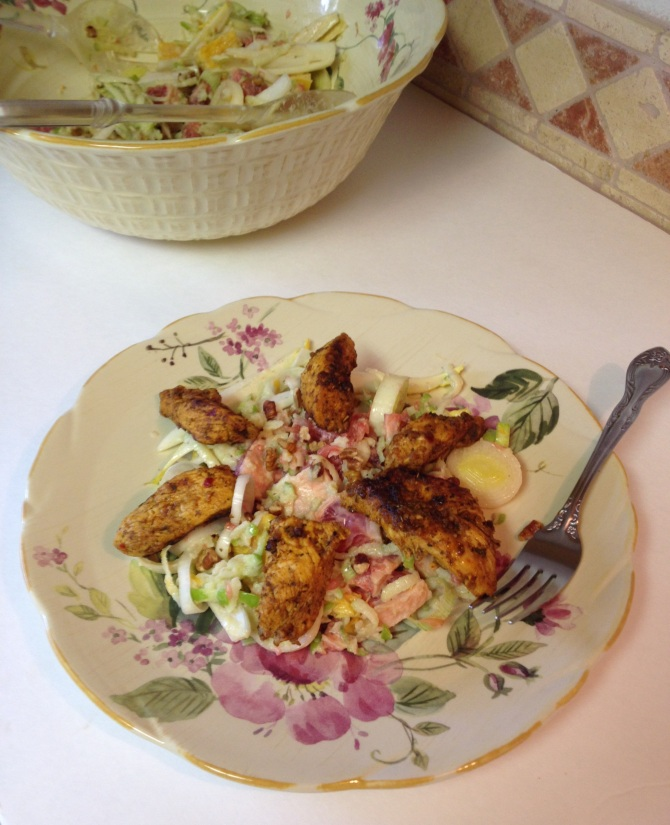 Endive and Fruit Salad with Chicken