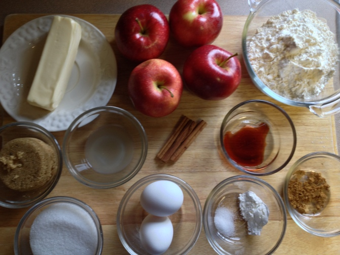 ingredients for Apple Upside Down Cake