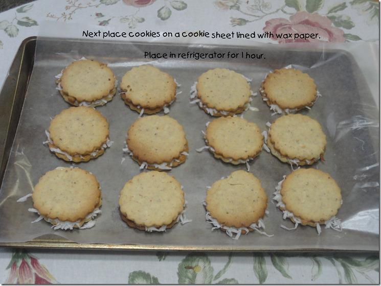 Sweet Milk Sandwich Cookies prepared for refrigeration