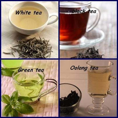 4 types of teas