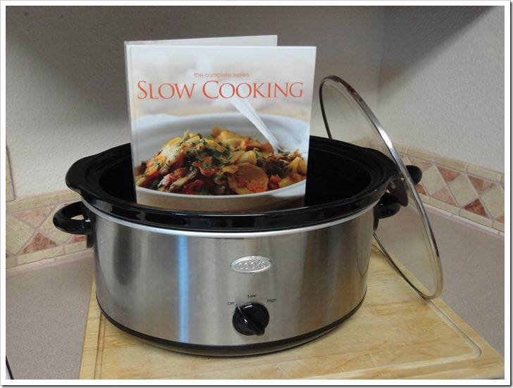 crock-pot and recipe book