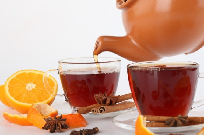 drinking tea for good health