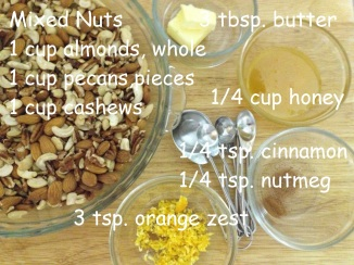 ingredients for Honey Roasted Nuts