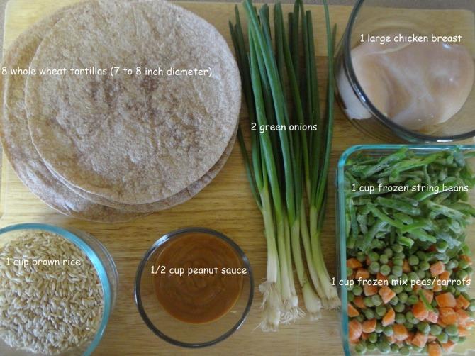 ingredients-for-Oriental-Chicken-Wraps