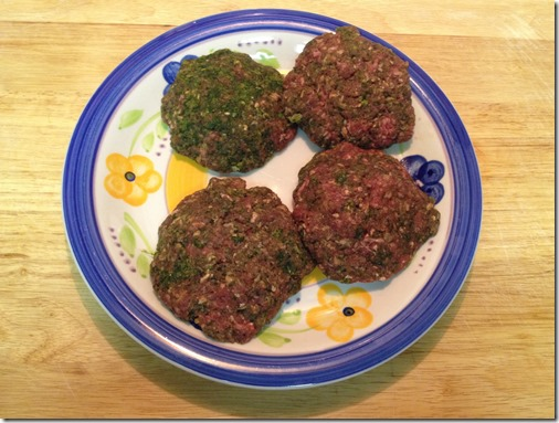 prepared Green Hamurgers