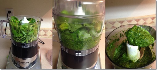 processing greens for Green Hamburgers