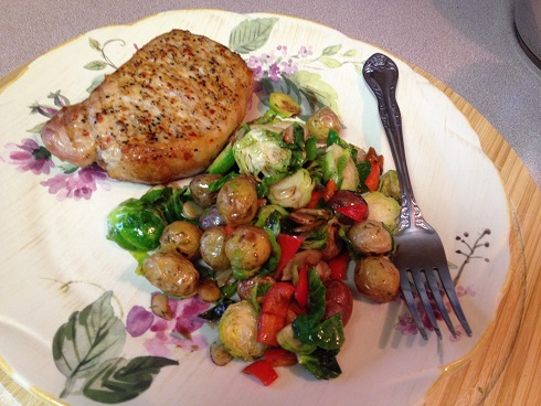 Warm Brussels Sprouts and Dilled Potato Salad
