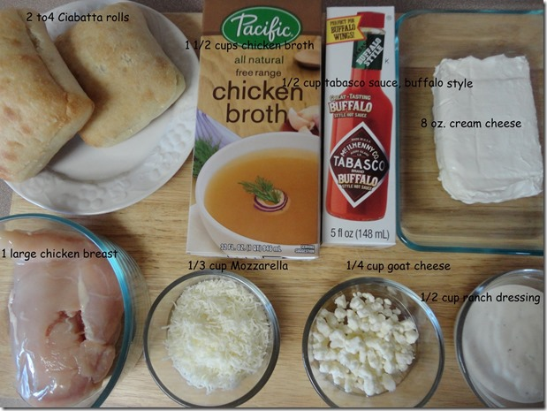 ingredients for Buffalo Style Chicken Salad