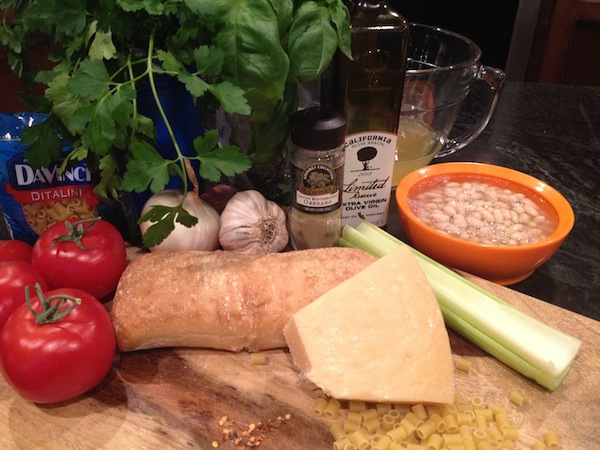 ingredients for Pasta Fagioli