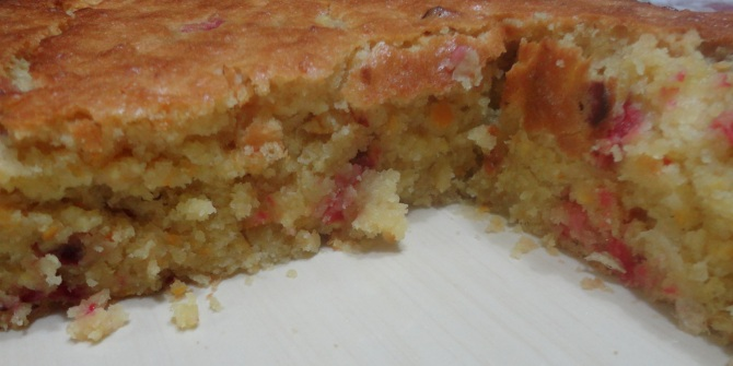 nside view of fresh Orange Craberry Bread