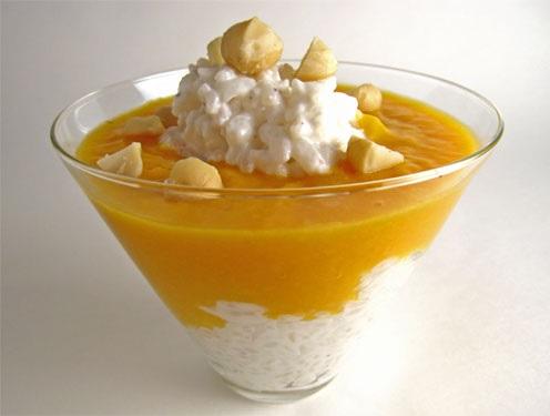 Mango Coconut Rice Pudding