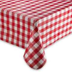 red checkered table cloth