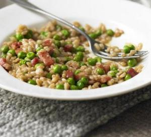 Risotto with Pancetta and Peas