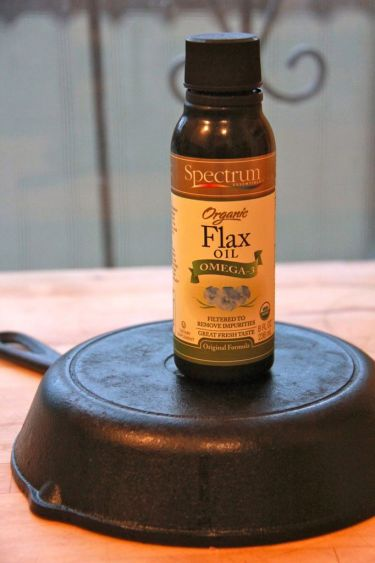 How to Care for Your Cast Iron Cookware using flaxseed oil