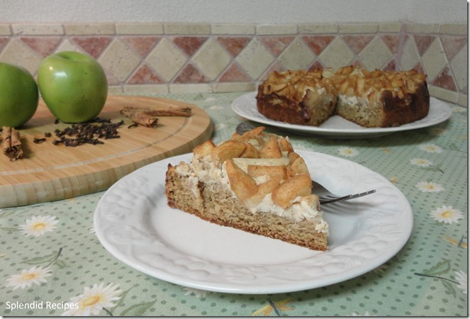 Spiced Apple Cream Cheese Coffee Cake