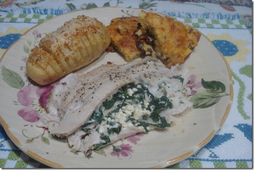 Baked Spinach Stuffed Tilapia