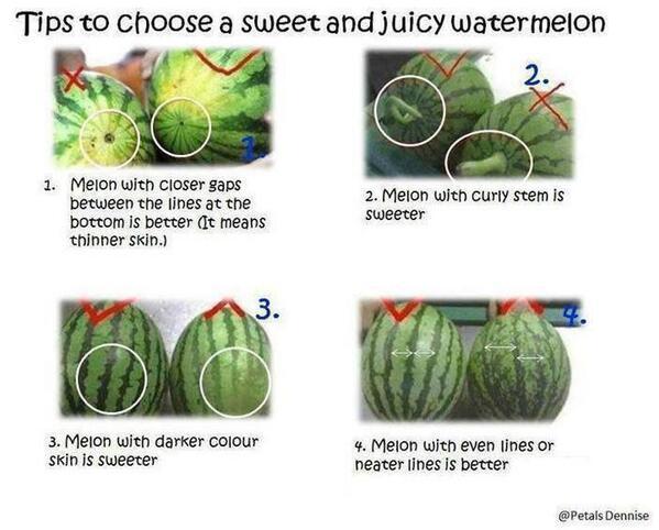 choosing a rip watermelon