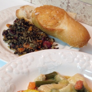 Side of Wild Rice with Rosemary, Parsley and Thyme