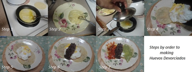 step by step Huevos Devorciados