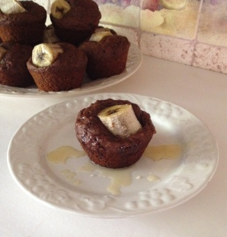 Dark Cocoa Banana Muffins (end article)