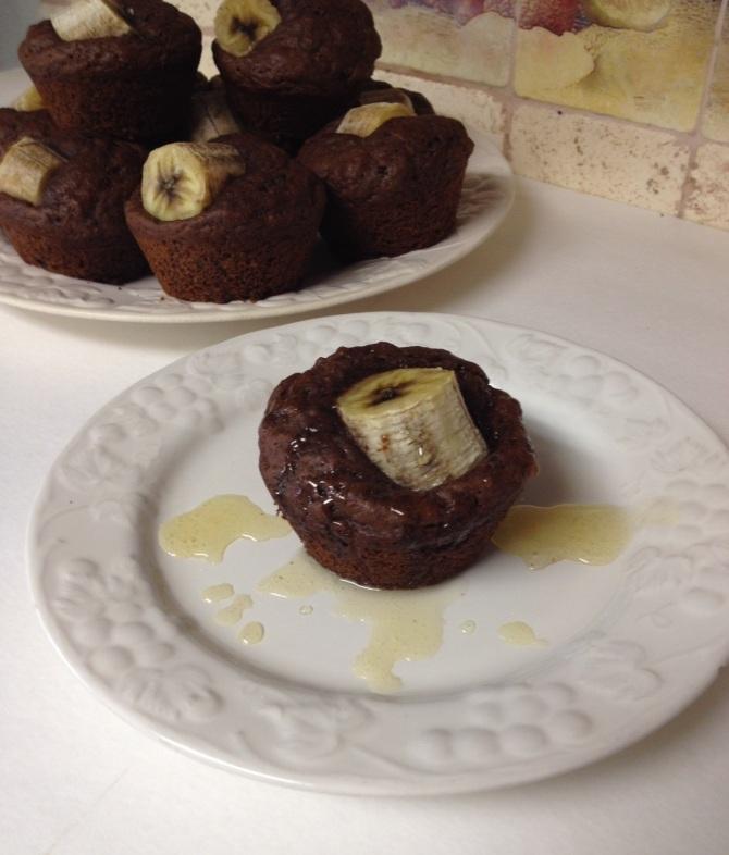 Dark Cocoa Banana Muffins