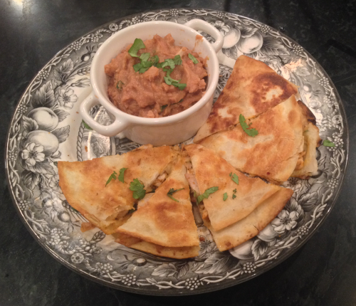 Plated Chicken Quesadillas
