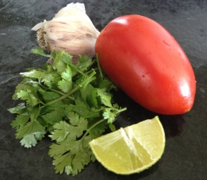 fresh ingredients for Mexican Salsa