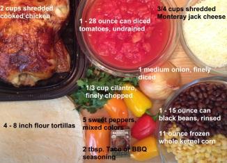 ingredients for Mexican Chicken Tortilla Pie
