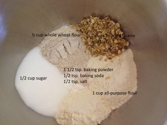 ingredients for Toasted Whole Grain Orange Muffins