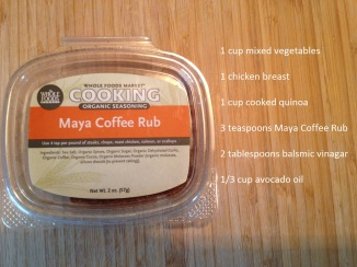ingredients needed for Quinoa Maya Chicken Bake