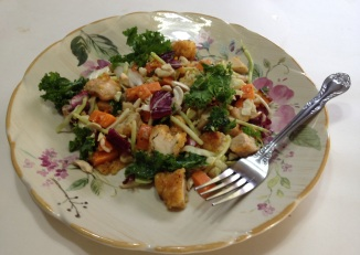 Kale Sweet Potato and Chicken Salad