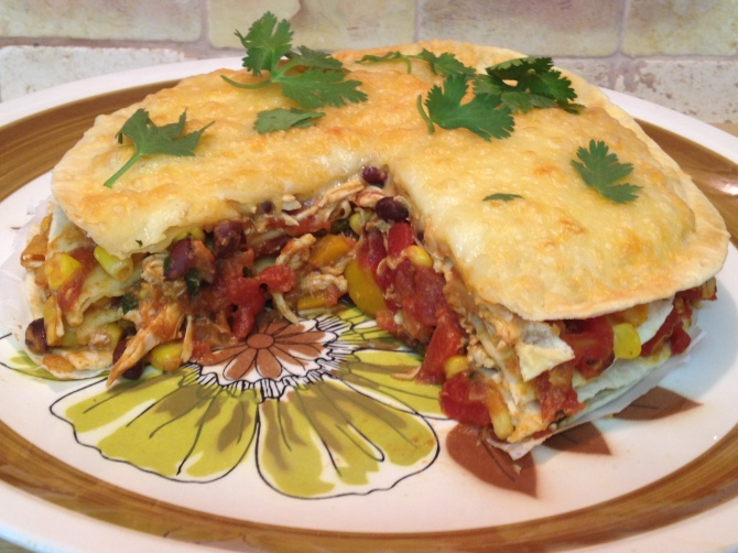 Mexican Chicken Tortilla Pie