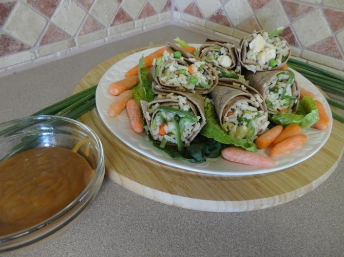 Oriental Chicken Wraps