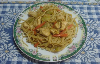 Thai Chicken with Linguini