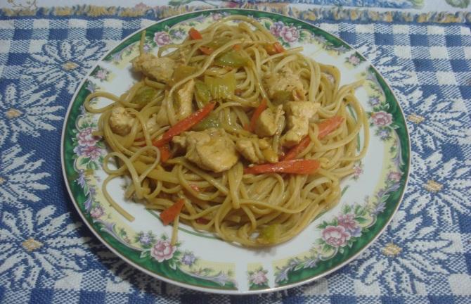 Thai Chicken with Linguini